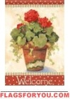 Red Geranium Garden Flag
