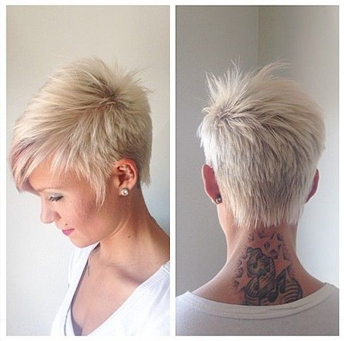 short fine haircut | Trendy Short Hairstyles: Blonde Short Hairstyle for Fine Hair 5513 497 2 Angela Thomas Hair styles Meredith Brosofsky @Alisha Brosofsky do you think I could do this like after my bday?