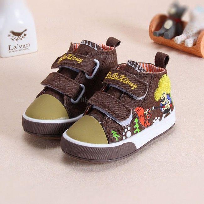 21-25 - Kaliteli Malzemelerden Üretim Karikatür Desenli İthal Unisex Bebek Ayakkabıları - 571612 - 34-1