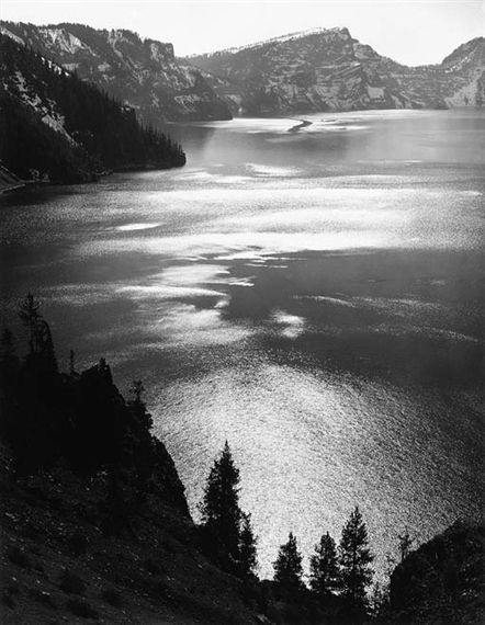 AFTERNOON SUN, CRATER LAKE NATIONAL PARK, OREGON (1943), Ansel Adams