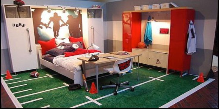 Is your child a crazy fan of a particular sport? Why not let them practise in their free time, by transforming their room into a pitch, green or court to help them celebrate their favourite game. There are a few ways that you can really make this theme work – it is important to stick to one sport rather than trying to combine lots together.
