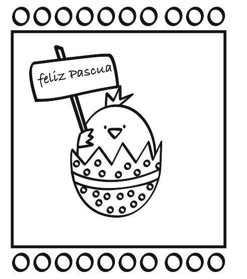 Dibujos y tarjetas de Pascuas para imprimir y colorear. Descarga gratis estos dibujos de Pascuas para colorear. Tenemos dibujos de huevos de Pascua, también dibujos de Pascua con pollitos y por supuesto dibujos con el conejo de Pascua.    Puedes descargar el archivo haciendo click sobre la imagen o en el enlace siguiente (el archivo contiene los 4 modelos): Descargar dibujos de Pascua para colorear Enlaces relacionados con dibujos de Pascua para colorear: Dibujo del conejito de Pascua…