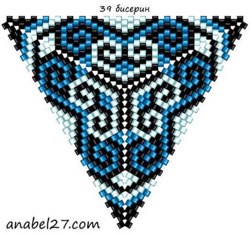 схема бисерного треугольника