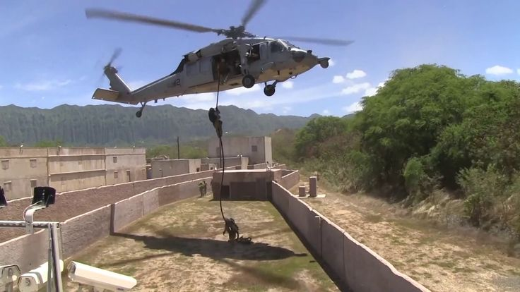 Soldiers Operation by helicopter