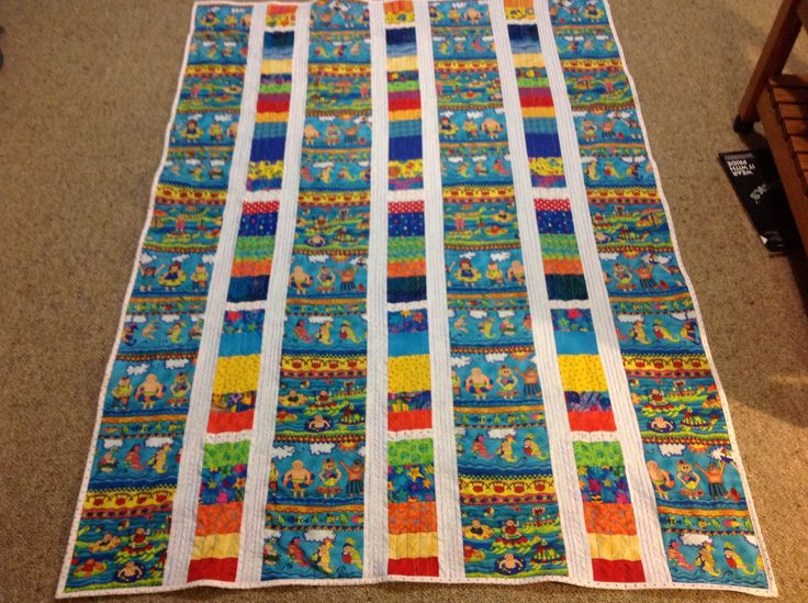 Baby quilt made for my great-nephew Logan