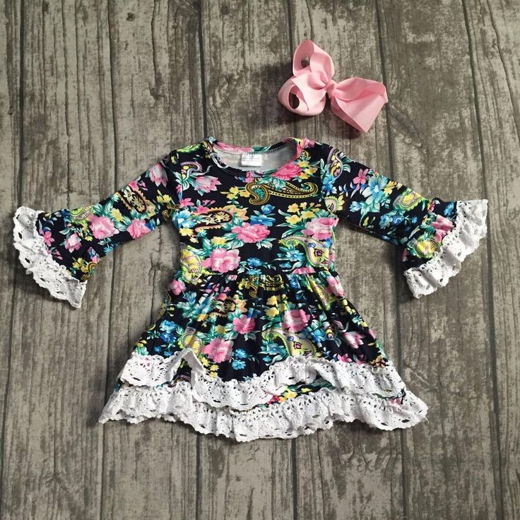Black and Pink Ruffle Floral Dress 2PC