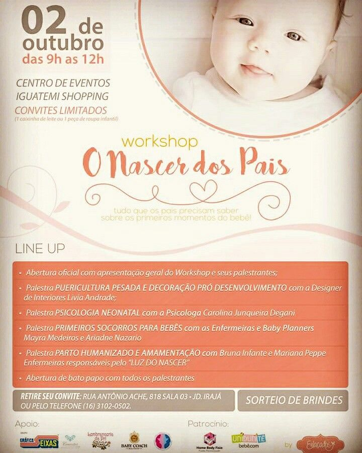 Maternidade! Workshop em Ribeirão Preto! O Nascer dos Pais