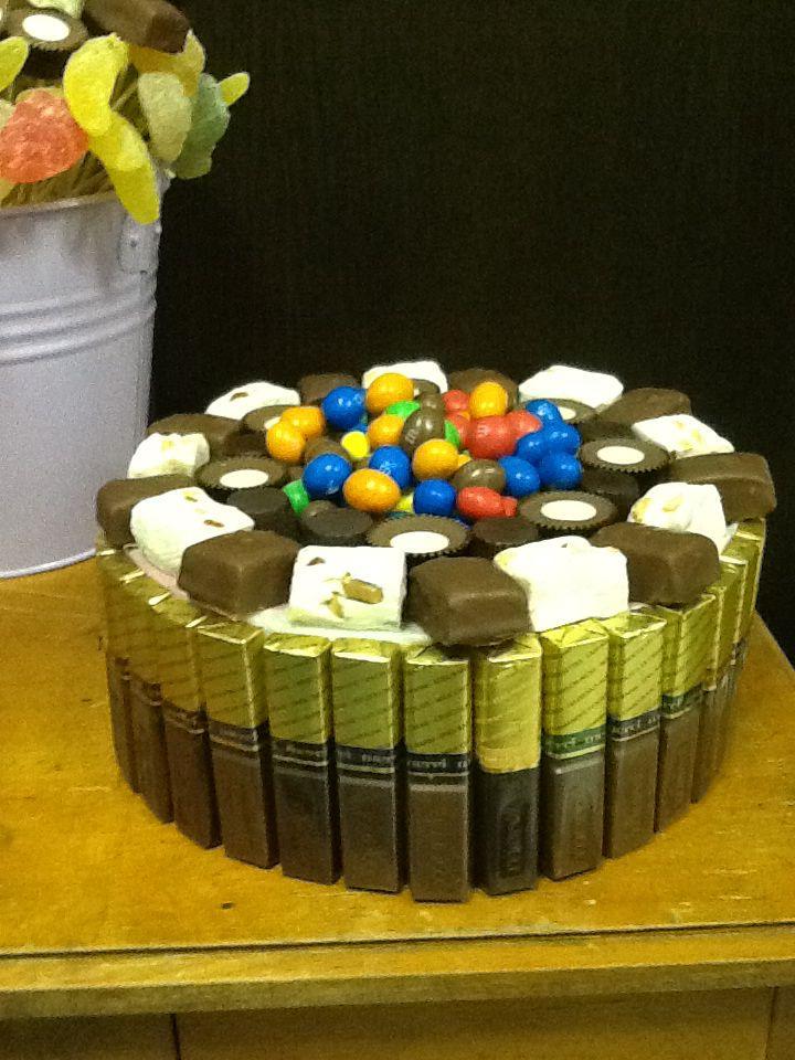 Snoeptaart van chocolade