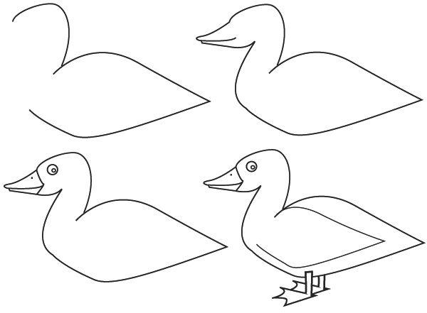 1000 id es propos de canard dessin sur pinterest coloriage avion deco wc et wc noir - Canard dessin facile ...