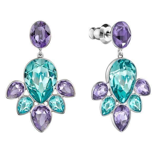 3bf315867bc23 Swarovski Multi-color Crystal EGLANTINE Pierced Earrings #5228775 ...
