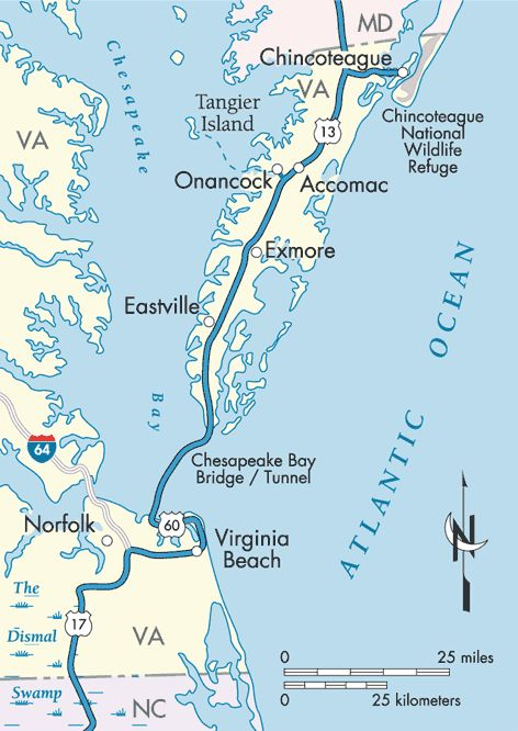 Coastal Virginia Map.A Special Place In Virginia The Eastern Shore Different Pace Of