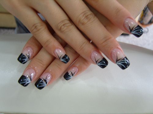 Best 25 black nail tips ideas on pinterest colorful nail black french nails tips design prinsesfo Gallery