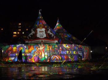 Night Projection fényfestés - Fővárosi Nagycirkusz promóció