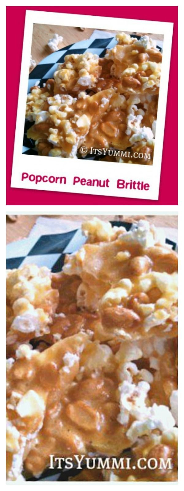 Popcorn peanut brittle is a salty-sweet snack, perfect for game day munchies, holiday food gifts, or for no special occasion at all! via @itsyummi
