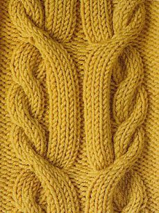 The pattern of the braid needles - spool - site about knitting