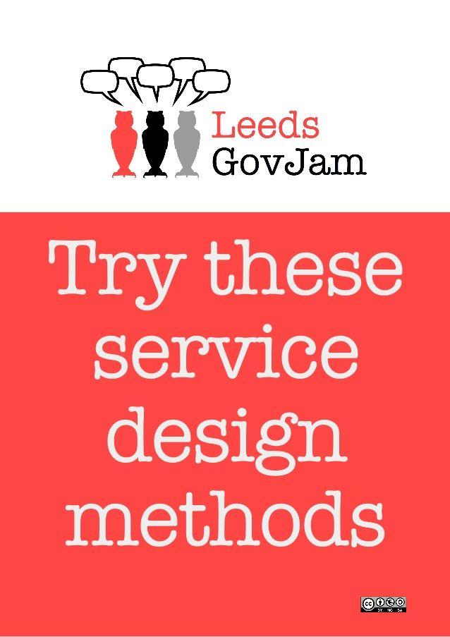 GovJam - try these service design methods
