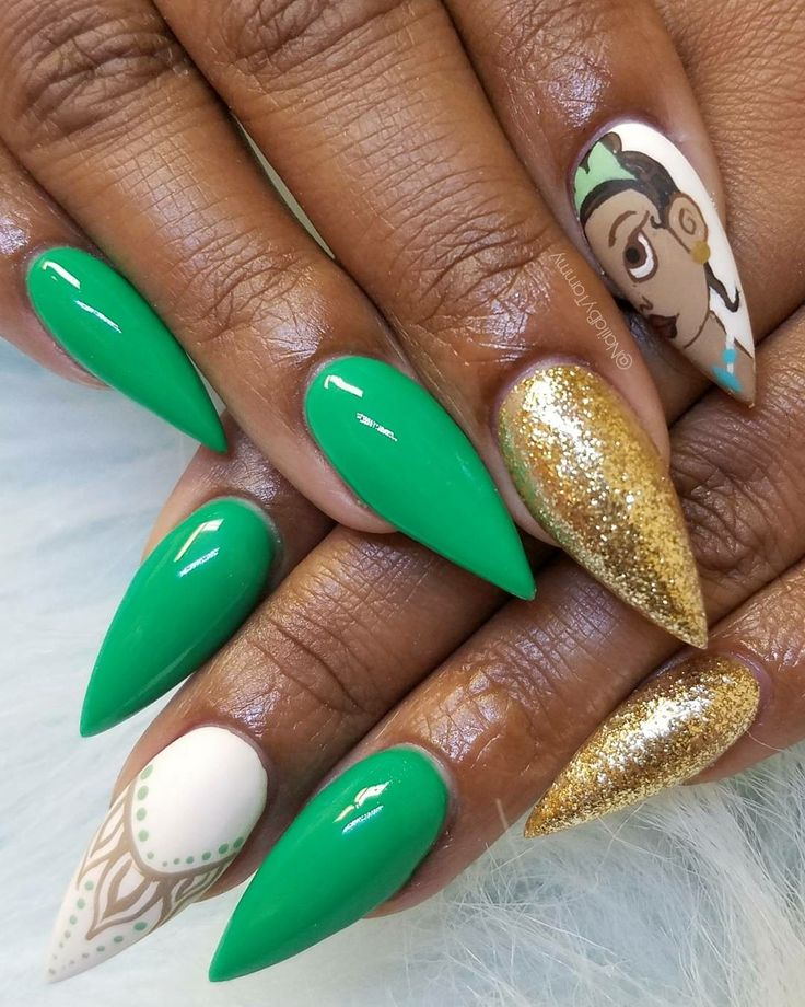 Disney Princess Tiana Waterfall Nail Art: 17 Best Ideas About Disney Princess Nails On Pinterest