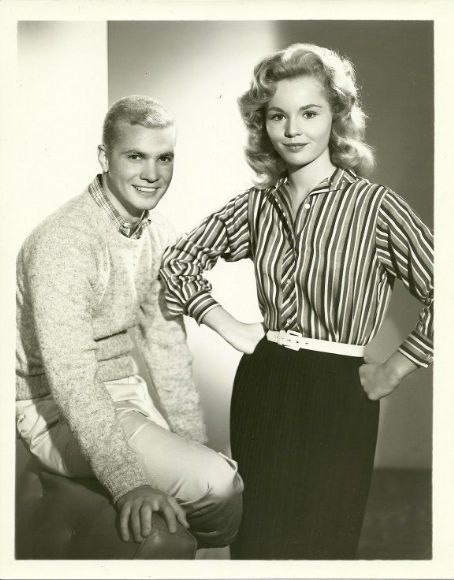 "Tuesday Weld and Dwayne Hickman from TV show "" The Many Loves of Dobie Gillis""."