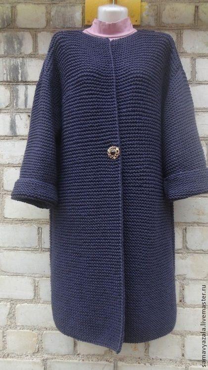 Кофты и свитера ручной работы. Кардиган вязаный. БАКЛАЖАН. Наталия. Интернет-магазин Ярмарка Мастеров. Пальто, пальто…