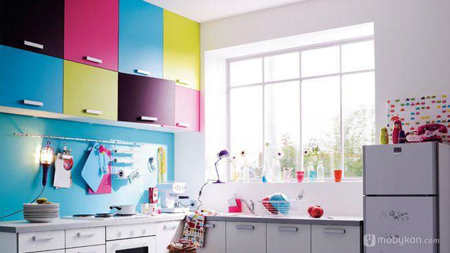 صور مطابخ حديثه و اشكال مطابخ مودرن و مميزه من موبيكان Kitchen Colors Home Decor Kitchen Interior