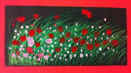 Kindergarten Poppy art - Artsonia Art Museum :: Artwork by Vinay36