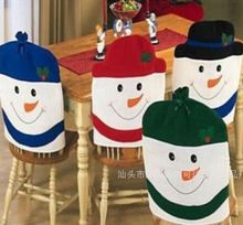 new year natal navidad christmas decoration snowman Christmas Kitchen Chair Covers,dinner chairs covers ,Banquet Chair covers(China (Mainland))