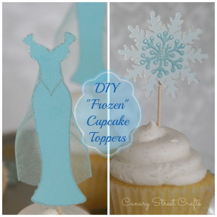 """Gray's Birthday??   DIY """"Frozen"""" Cupcake Toppers - Canary Street Crafts"""