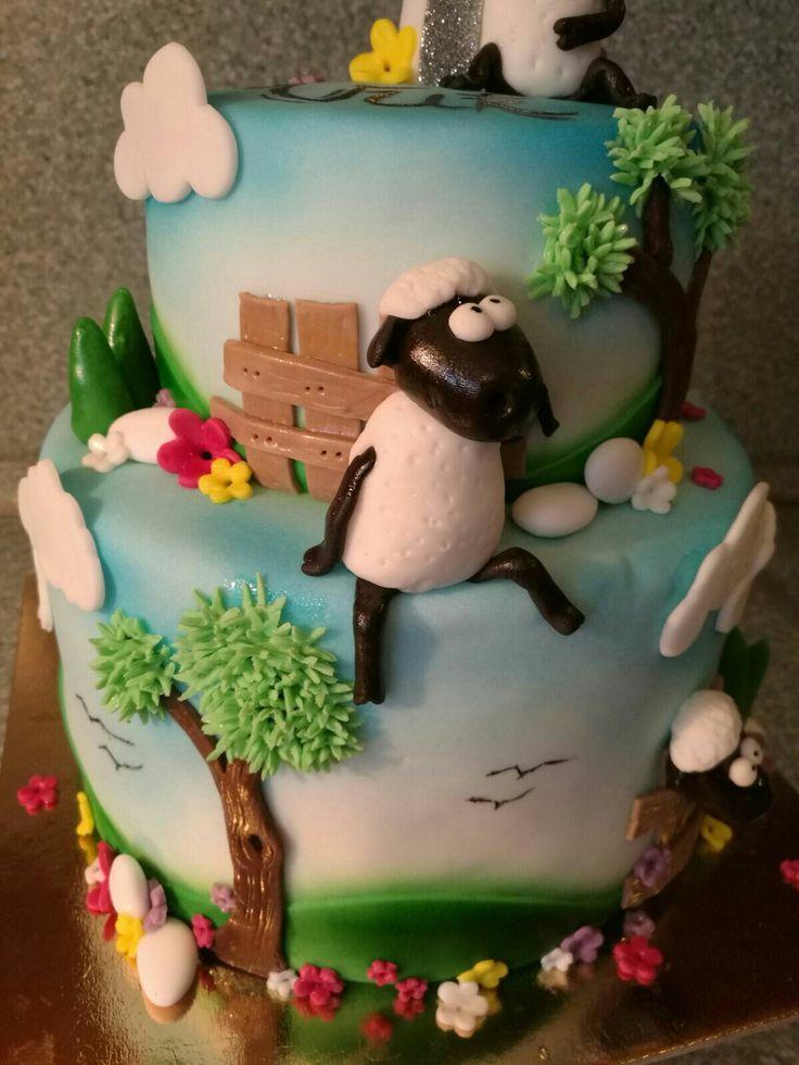 Shaun the sheep cake_detail 3