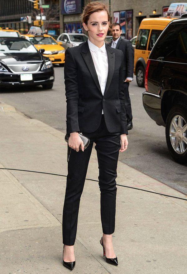 Look da atriz Emma Watson com estilo tomboy.