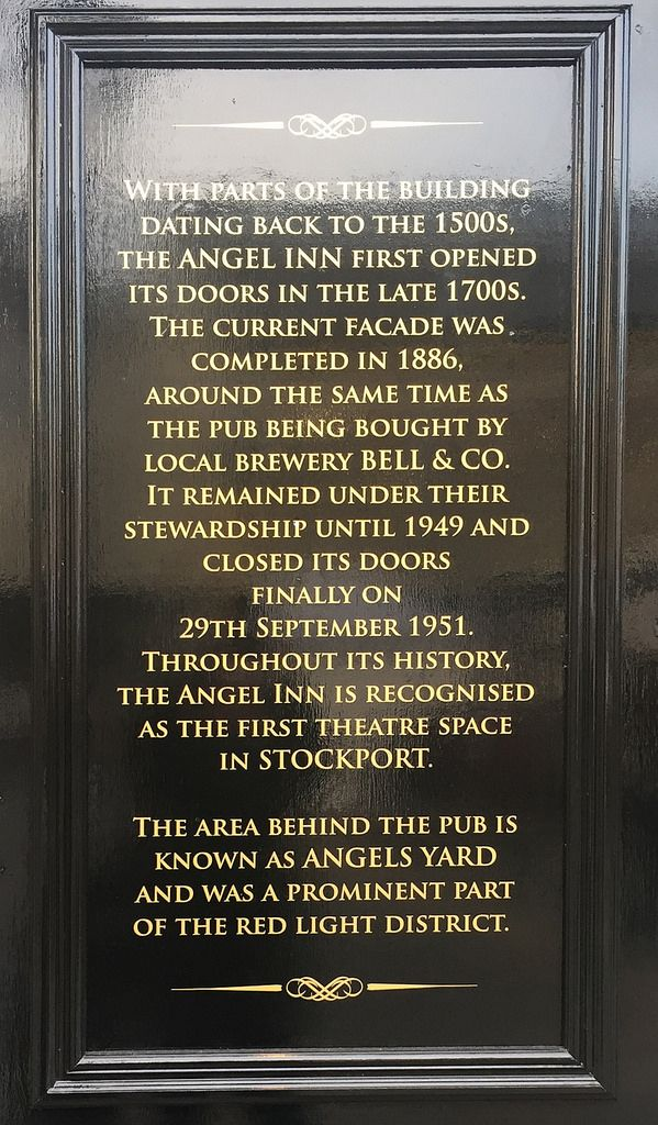 Angel Inn History Stockport Uk Stockport Market Inn