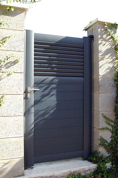 Les 25 meilleures id es de la cat gorie portillon jardin sur pinterest id e - Portillon dans portail ...