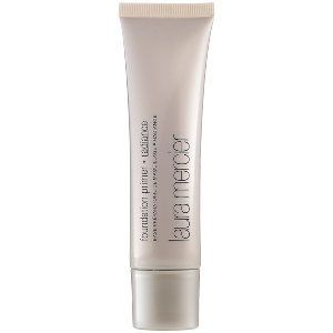 """""""I enhanced her beautiful porcelain complexion with the Laura Mercier Radiance primer,"""" Turnbow says.Laura Mercier, radiance primer, $34, available at Sephora."""