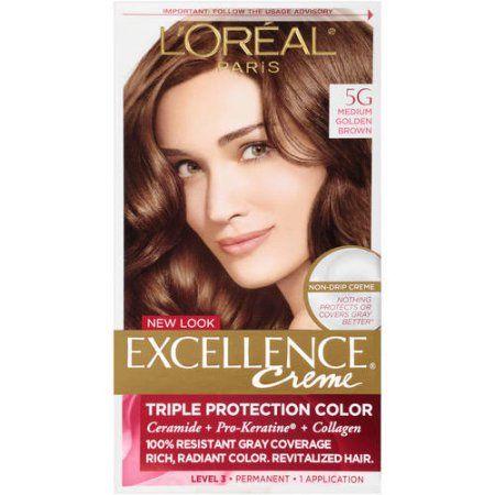 Beauty In 2020 Golden Brown Hair Color Medium Golden Brown Loreal Paris