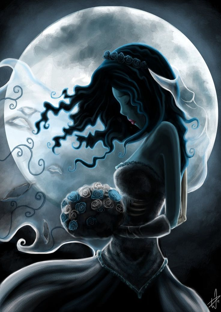 "welcome2creepshow:  Corpse Bride Art by Daniela ""Fuxx"" Winkler zombiesandfairytales"