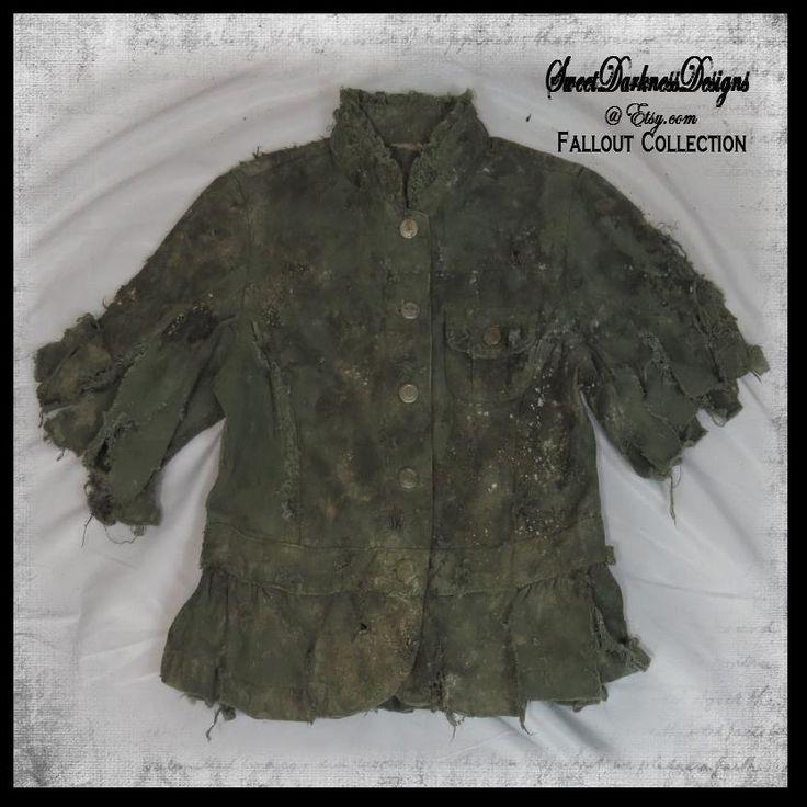 Post Apocalyptic GIRLS COAT Fallout Child's Coat Zombie Child Costume Tattered Apocalypse Coat Wasteland Clothing by WastelandWearable by WastelandWearable on Etsy