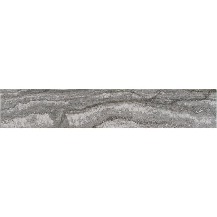 MS International Bernini Carbone 3 in. x 18 in. Bullnose Porcelain Wall Tile (15 lin. ft. / case), Beige
