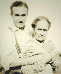Walt Disney and his mother Flora