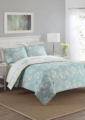 Marble Hill  Bonita Comforter Set - Blue - Queen
