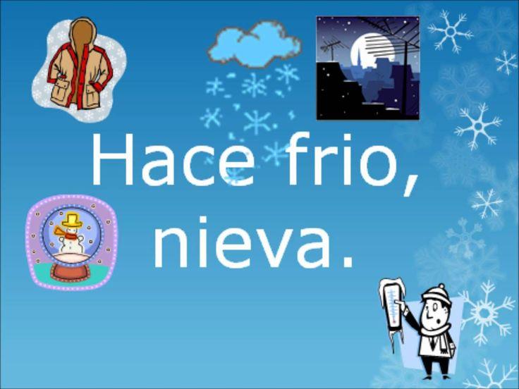 ¿Que tiempo hace hoy? (frío is missing accent mark)