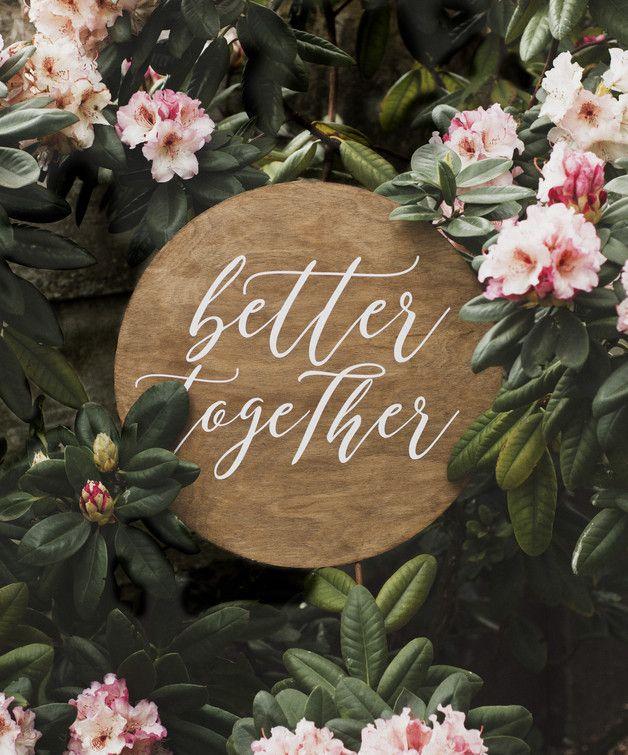 "Szyld ślubny ""better together"""