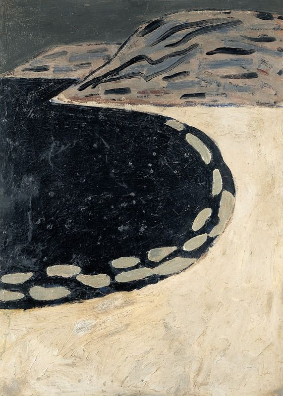 Auguste Chabaud (French, 1882 - 1955) Sea side (Bord de mer), 1905 Oil on cardboard, 104,5 x 75 cm