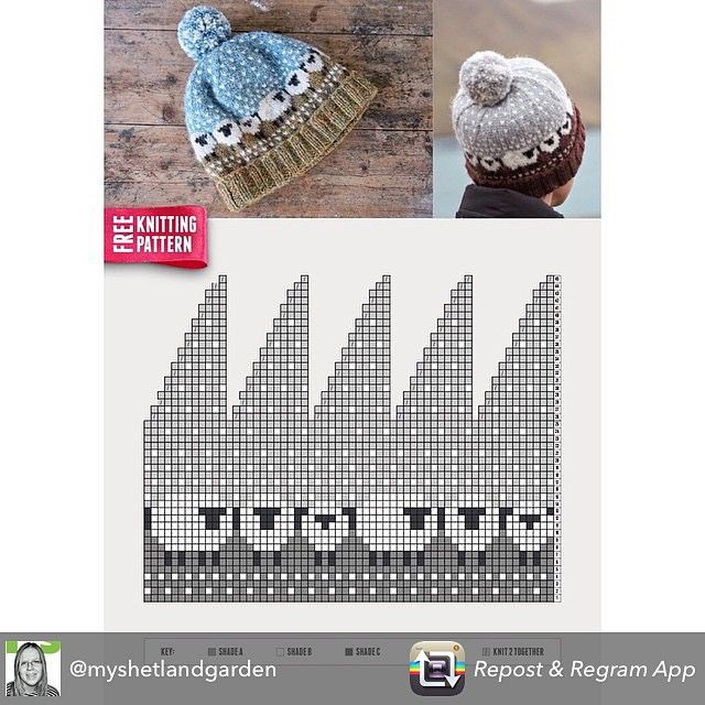 Download the free knitting pattern for @shetlandwoolweek 2015 if you haven't already from www.shetlandwoolweek.com/free pattern - I would love to see a flock of Baable hats!  Regram from @myshetlandgarden