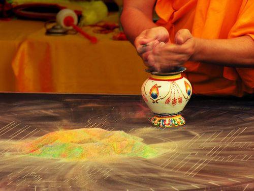 Tibetan Sand Mandala Destruction by Jessica Foote, via Flickr
