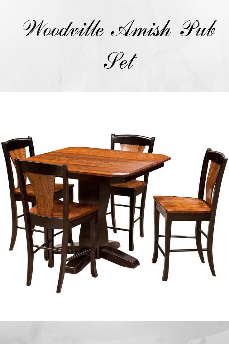 Pub Furniture Woodville Amish Pub Set 1 889 55 Pub Furniture Pub Set Bar Furniture For Sale Pub table and chairs for sale