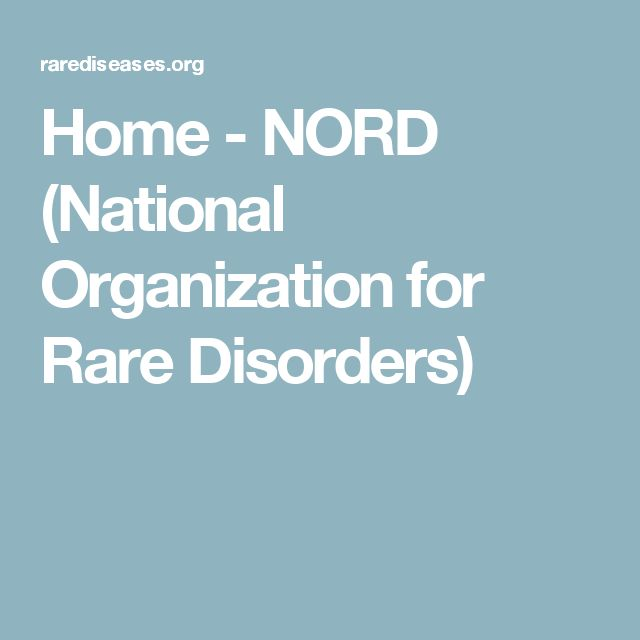 Home - NORD (National Organization for Rare Disorders)