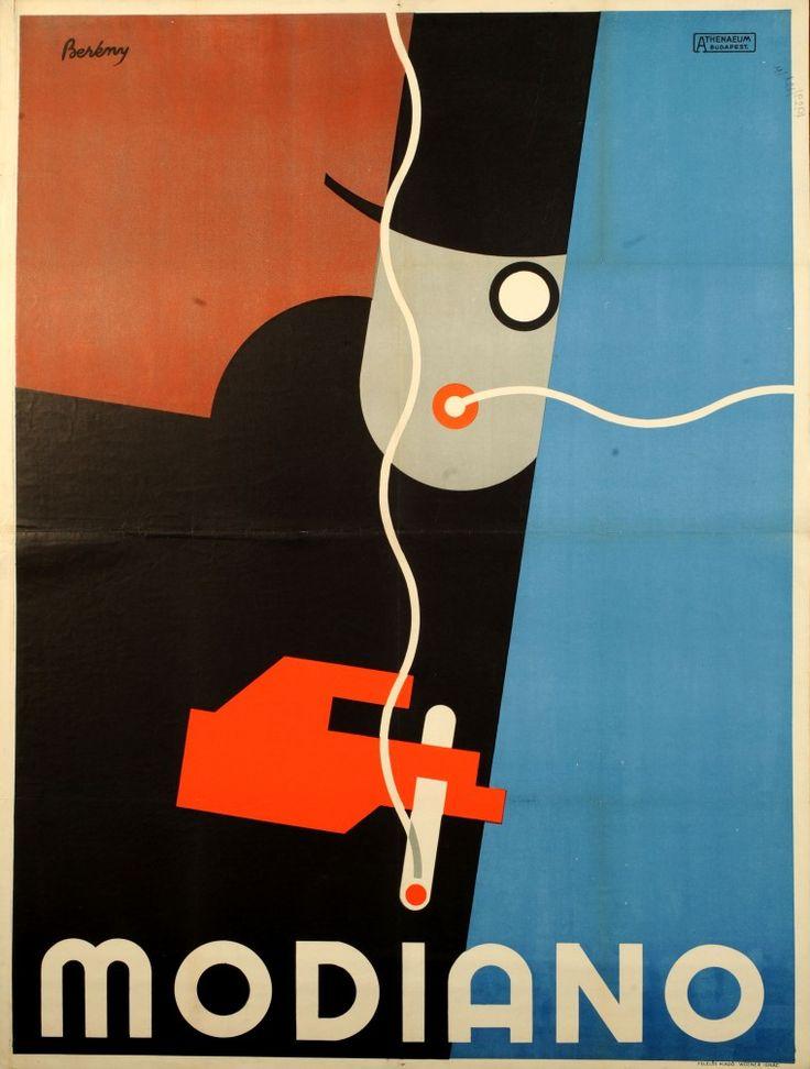 Modiano poster - Berény Róbert (1887-1953) #poster