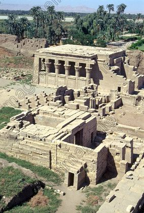 Dendara Temple basilica mammisi Nectanebo Roman roof view Egyptian