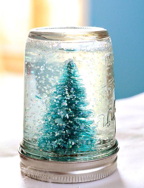 Mason Jar Snow Globe Tutorial   Julie Ann Art