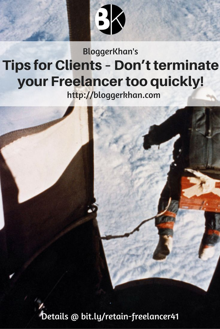 Many people hire freelancers, assign them a task and then within a few hours or days they turn around and terminate them.  #freelancer #don'tterminate #freelancertooquickly