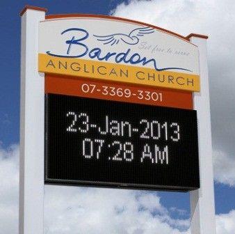Bardon Anglican Church LED sign / Danthonia Designs